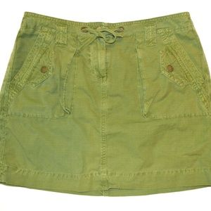 J. Crew Broken In Chino Twill Skirt Green Olive